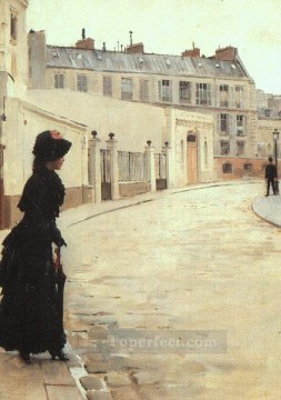 Jean Beraud Painting - The Wait Jean Beraud