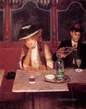 Jean Beraud Painting - The drinkers Jean Beraud