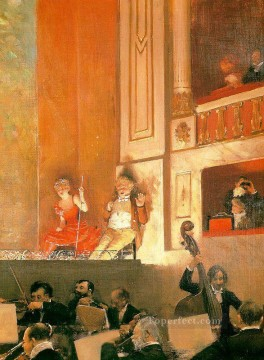 Jean Beraud Painting - Representation at the Theatre des Varietes Jean Beraud