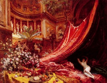 Jean Beraud Painting - Symphony in Red and Gold Jean Beraud