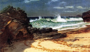 Albert Bierstadt Painting - Beach at Nassau Albert Bierstadt