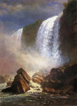 Albert Bierstadt Painting - Falls of Niagara from Below Albert Bierstadt