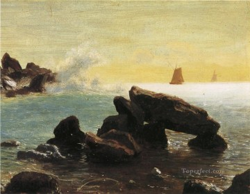 Seascape Canvas - Farralon Islands California luminism seascape Albert Bierstadt