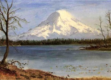 Albert Bierstadt Painting - Lake in the Rockies Albert Bierstadt