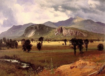 Albert Bierstadt Painting - Moat Mountain Intervale New Hampshire Albert Bierstadt