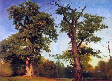 Albert Bierstadt Painting - Pioneers of the Woods Albert Bierstadt