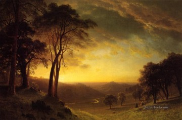 Sacramento River Valley Albert Bierstadt Oil Paintings