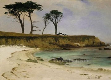 Albert Bierstadt Painting - Sea Cove Albert Bierstadt