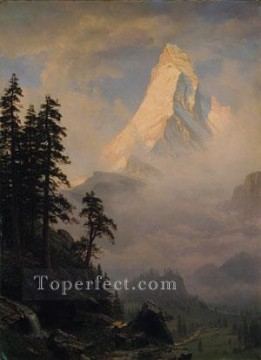 Sunrise On The Matterhorn Albert Bierstadt Oil Paintings