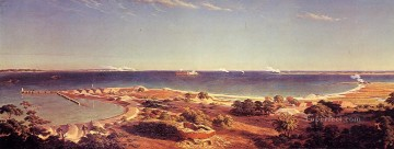 Albert Bierstadt Painting - The Bombardment of Fort Sumter Albert Bierstadt