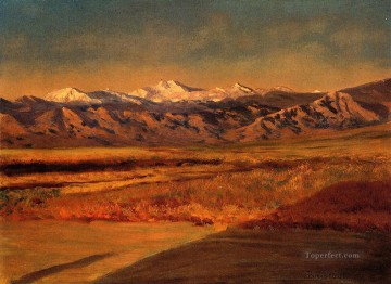 Albert Bierstadt Painting - The Grand Tetons Albert Bierstadt
