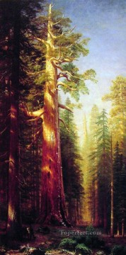 Albert Bierstadt Painting - The Great Trees Albert Bierstadt