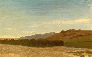 Albert Bierstadt Painting - The Plains Near Fort Laramie Albert Bierstadt