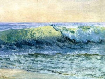 Albert Works - The Wave luminism seascape Albert Bierstadt