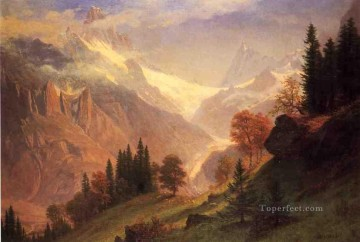 View of the Grindelwald Albert Bierstadt Oil Paintings