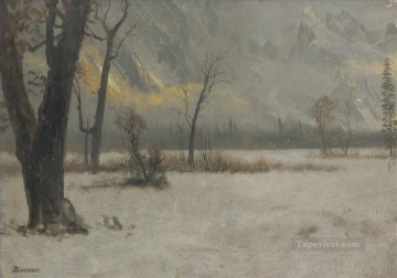 Artworks by 350 Famous Artists Painting - WINTER LANDSCAPE American Albert Bierstadt