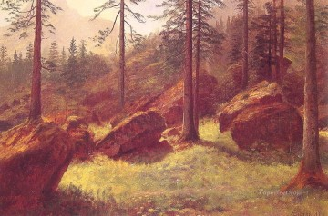 Albert Bierstadt Painting - Wooded Landscape Albert Bierstadt