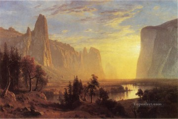 Albert Bierstadt Painting - Yosemite Valley Yellowstone Park Albert Bierstadt