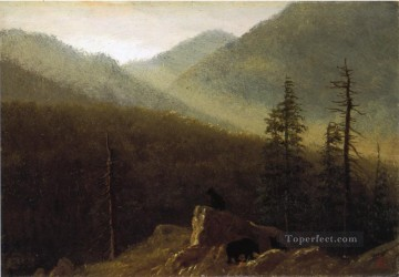 wilderness Art - Bears in the Wilderness Albert Bierstadt