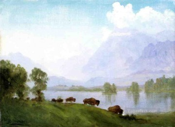 Albert Bierstadt Painting - Buffalo Country Albert Bierstadt