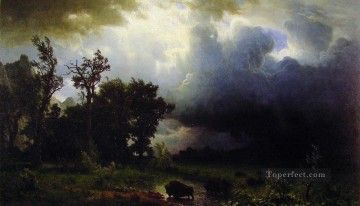 trail Oil Painting - Buffalo Trail Albert Bierstadt