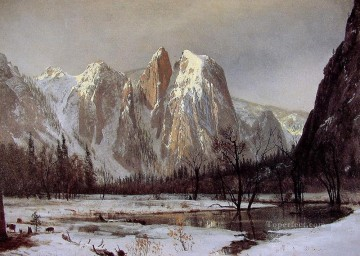 Albert Bierstadt Painting - Cathedral Rock Albert Bierstadt