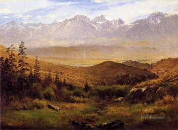 In the Foothills of the Mountais Albert Bierstadt Oil Paintings