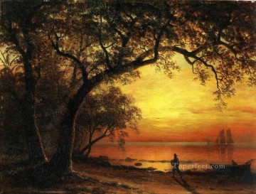 new orleans Painting - Island of New Providence Albert Bierstadt