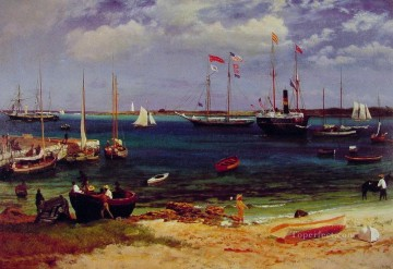 Sea Painting - Nassau Harbor After 1877 luminism seascape Albert Bierstadt