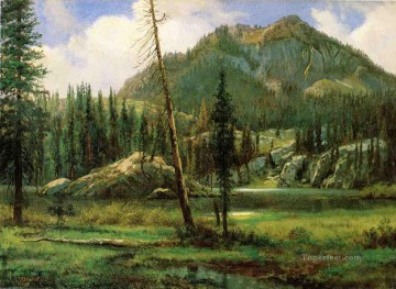 mountains Canvas - Sierra Nevada Mountains Albert Bierstadt