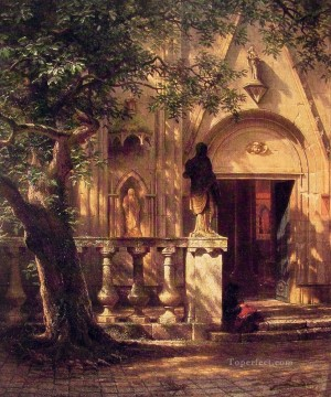 Albert Bierstadt Painting - Sunlight and Shadow Albert Bierstadt