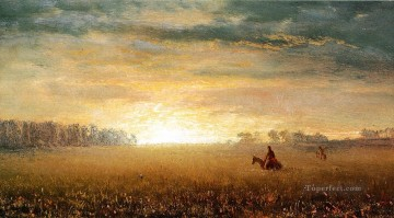 Albert Bierstadt Painting - Sunset of the Prairies Albert Bierstadt