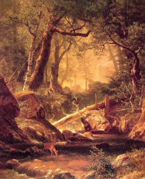 Albert Bierstadt Painting - White Mountains Albert Bierstadt