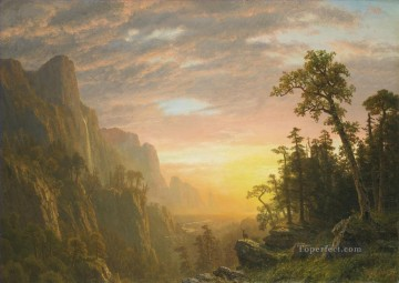 Yosemite Art - YOSEMITE VALLEY Albert Bierstadt landscape mountain deer
