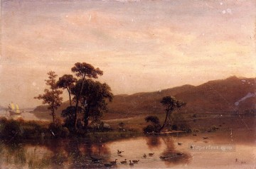 Albert Bierstadt Painting - Study forGosnold at Cuttyhunk 1602 Albert Bierstadt