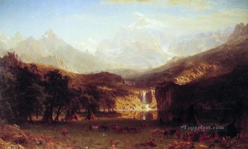 mountains Canvas - The Rocky Mountains Albert Bierstadt