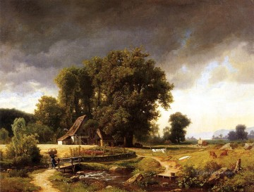 Westphalian Landscape Albert Bierstadt Oil Paintings