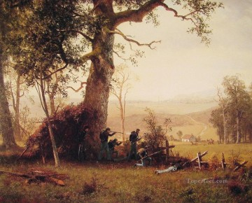 Albert Bierstadt Painting - Guerrilla Warfare Albert Bierstadt