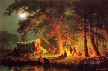 Oregon Trail Albert Bierstadt Oil Paintings