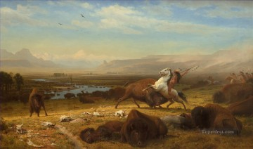 Albert Bierstadt Painting - The Last of the Buffalo Albert Bierstadt