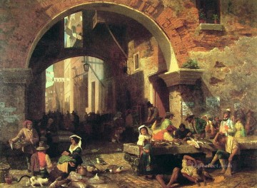 The Arch of Octavius luminism Albert Bierstadt Oil Paintings