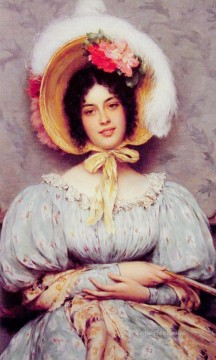 Blaas Oil Painting - A Viennese Beauty lady Eugene de Blaas