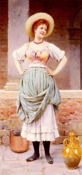 An Affectionate Glance lady Eugene de Blaas Oil Paintings