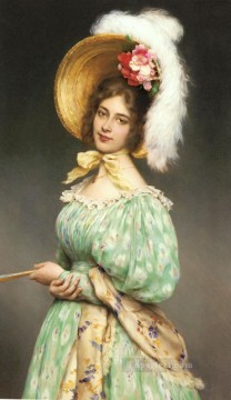 Musette lady Eugene de Blaas Oil Paintings