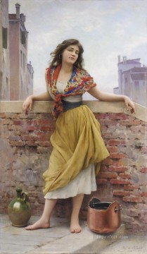 von Die Wassertragerin lady Eugene de Blaas Oil Paintings