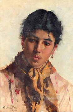 portrait Art - von Portrait of a Woman lady Eugene de Blaas