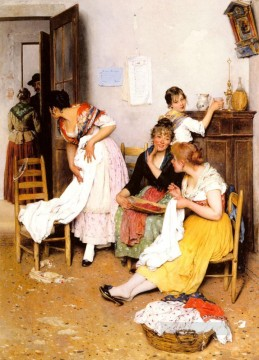 Eugene de Blaas Painting - De The New Suitor lady Eugene de Blaas