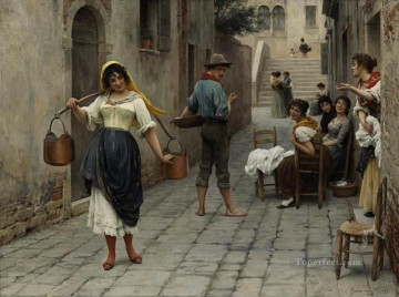 von Catch of the Day lady Eugene de Blaas Oil Paintings