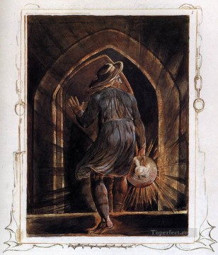 Romantic Painting - Los Entering The Grave Romanticism Romantic Age William Blake