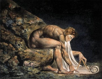 William Canvas - Isaac Newton Romanticism Romantic Age William Blake